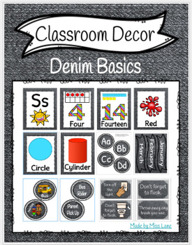 Classroom Decor: Denim Basics