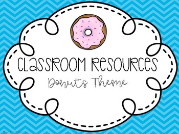 Classroom Decor - Donut Theme