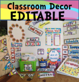 Classroom Theme Decor Bundle EDITABLE Whimsical Back to School / Colors