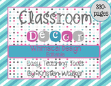 Classroom Decor: EDITABLE Whimsical Design {pink, turquois