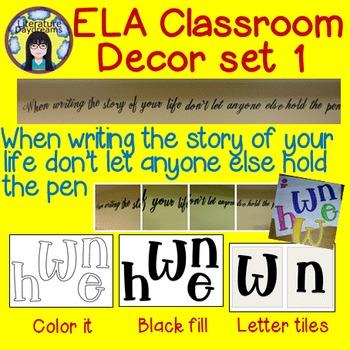 Classroom Decor - ELA Classroom motivation set 1