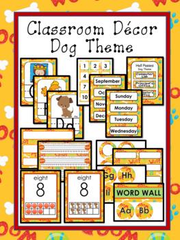 Classroom Decor Editable - Dog Theme