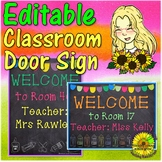 Classroom Decor - Editable Door Sign