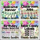 Classroom Decor Editable Flower Garden Theme