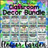 Flower Garden Classroom Decor Editable Theme
