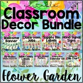 Flower Garden Classroom Decor Editable Theme Bundle