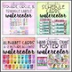 Classroom Decor Editable Watercolor Theme