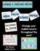 Classroom Decor Hot Air Balloon Theme SPANISH Version Edit
