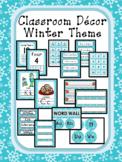 Classroom Decor Editable - Winter Theme