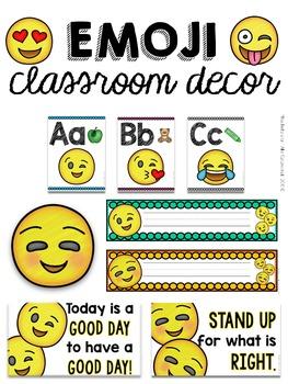 Classroom Decor: Emoji (GROWING BUNDLE)