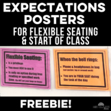 Classroom Decor: Expectations Posters for Flexible Seating