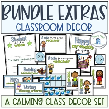 Classroom Decor Extras Blue and Green Theme