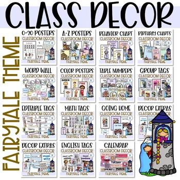 Classroom Decor - Fairy Tale Theme - The Big Bundle