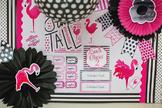 Classroom Decor Flamingo Black & White - Full Collection Bundle