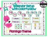 Classroom Decor: Flamingo Theme Calendar Setup
