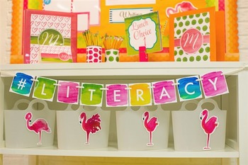 Classroom Decor Flamingo Watercolor - Full Collection Bundle