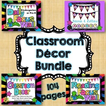 Classroom Decor & Focus Wall Bundle (Bright Colors)