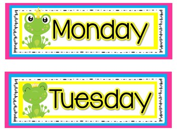 Classroom Decor: Frog Theme Calendar Setup
