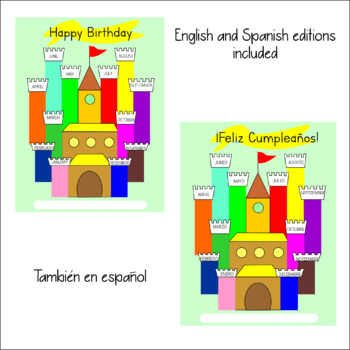 Birthdays' Display. Castle related. Fun printable to make a Birthdays' Castle.
