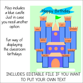 Birthdays' Display. Fun printable to make a Birthdays' Castle.