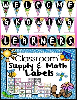 Classroom Decor- Garden, Bugs, or Flower Theme