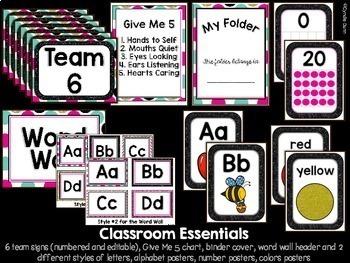Classroom Decor Glitter