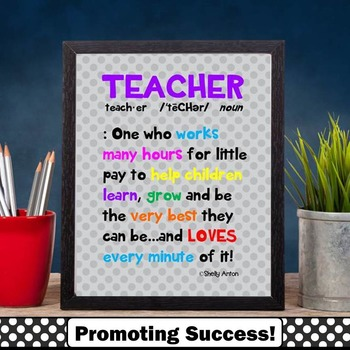 Teacher Appreciation Week Gift Idea ~ Printable Definition
