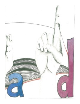 "Classroom Decor:  Handmade ""Read"" Sign Language Poster"