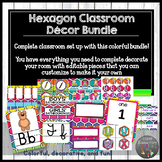 Classroom Decor Hexagon Themed