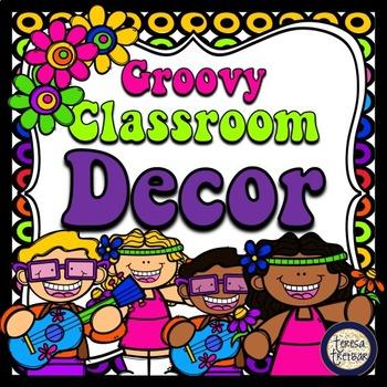 Hippie Groovy 70s Theme Classroom Decor