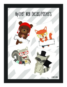 Classroom Decor - Hipsters in the Forest: Welcome Banner & Wall Decals/Posters