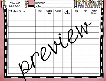 Classroom Decor: How We Go Home: Pastel Chalkboard and Burlaps: (editable)