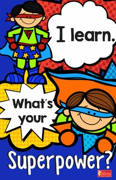 Classroom Decoration I Learn What is your Superpower Poster