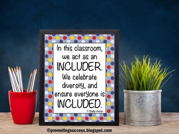 Special Education Inclusion Quote, In This Classroom We Poster