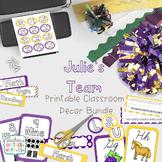 Classroom Decor - Julie's Team! (purple and gold)