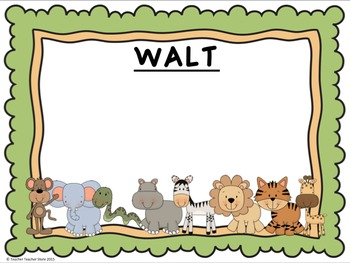 Classroom Decor Jungle Theme Editable Desk Tags Labels Welcome Walt Wilf Tib