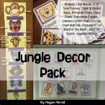 Classroom Decor Jungle Theme by Megan Merrell