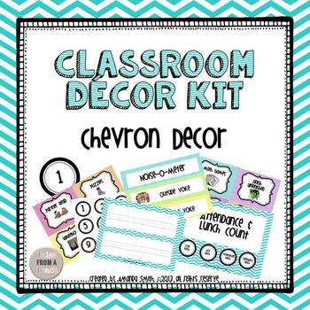 Classroom Decor Kit: Chevron Theme Printables