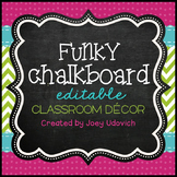 Classroom Decor Kit: Funky Chalkboard