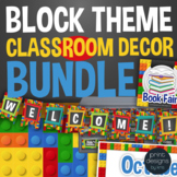 Classroom Decor LEGO Theme BUNDLE - Posters, Banners, Labels, Signs