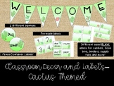 Supply labels, book bin labels, & welcome banners - Cactus Theme