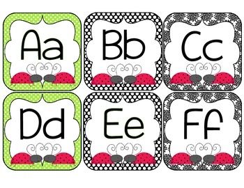 Classroom Decor-Ladybug Love in Lime and Black