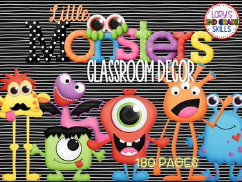Classroom Decor - Little Monsters