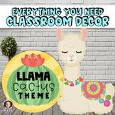 Llama Classroom Decor, Llama and Cactus Theme - Editable Bundle