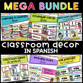 Classroom Decor MEGA BUNDLE #1 in Spanish