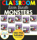 Classroom Decor Math Literacy Monster Themed Activities Bundle