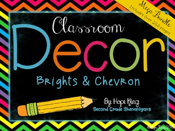 Classroom Decor Mega Bundle: Brights and Chevron