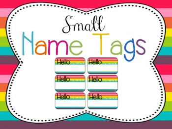 Classroom Decor Mega Bundle: Brights and Stripes WHITE {Editable}