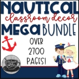 Classroom Decor Mega Bundle Nautical Theme