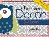 Classroom Decor Mega Bundle: Owl Lovin'